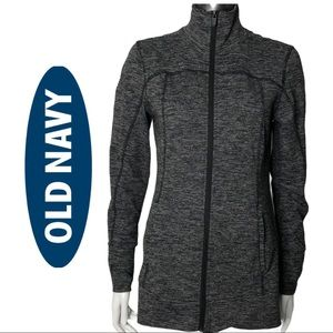 Old Navy Fitted Zip Front Jacket Activewear